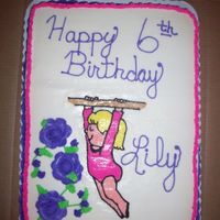 Girl Doing The Bars I did this cake for a little girl who goes to gymnastics