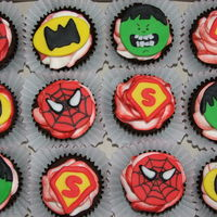 Super Hero Cupcakes Mmf