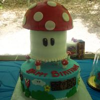 Mario Cake Mario cake for 3 boys. all is cake but the top of the mushroom, I had made the top out of cake . but at the last minute I didn't like...