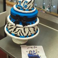 "Sweet 16  SWEET 16 cake... I made this out of buttercream, Customer had a picture that was like a ""Madd Hatter Cake""! this is my take at it..."