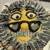 Jerry Garcia  my cousin saw a Jerry Garcia cake online and wanted me to make it look like it! I don't know who's it was !? But I want to thank...