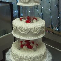 Wedding 3 tiered wedding cake