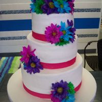 Bridal Shower Cake White cake, bettercream with crushed oreos filling, buttercream frosting, and fresh flowers.