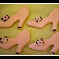 Pink & Black Shoes These cookies are for a customer who is having a Mary Kay party. They are sugar cookies (Land O'Lakes recipe) and frosted with a...