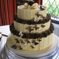 Cigerello And Chocolate Plastique Wedding Cake