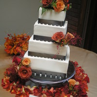 Classic Autumn Elegance I have to say, the real flowers really make this cake outstanding!!!