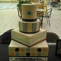 Mahogany buttercream with fondant accents
