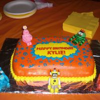 Yo Gabba Gabba This was a cake I made for my daughter's 2nd birthday. The figures are made out of gumpaste.