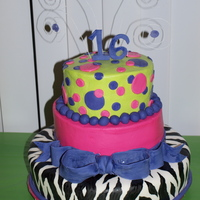 Zebra And Polka Dot 16Th Bithday