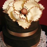 Huge Gumpaste Flowers And Chocolate