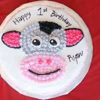 "Baby Einstein Cow Cake All BC. This was my second ""decorated"" cake."