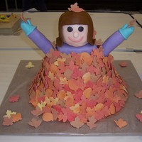 Fun In The Fall  I made this for a cake contest, the main photo is a picture of it at the show. I rushed through this cake. On the way home a deer ran into...
