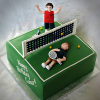 Tennis Cake For Some Sibling Rivalry
