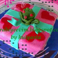 The Frog Prince   I made thia cake as a surpise for one of my friends.It was a fruit cake