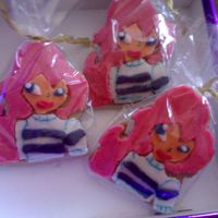 Winx Club: Bloom Cookies Cookies I made for my daughter who llikes Winx club of Bloom very much.
