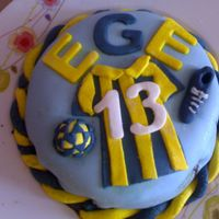 Footballer Fan Cake I made this for my 13 year old nephew who is a footballer fan and this cake is made of his favorite team's colours.It is a Turkish...