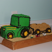 Tractor Hayride Cake Cake for a Hayride birthday Party