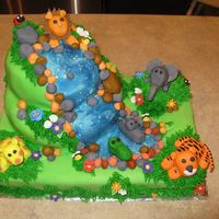 Jungle Themed Baby Shower   I made this cake for a baby shower. The theme was jungle babies.