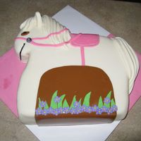 Horse-Themed Birthday This cake was made for a 4 year old girls birthday. I got the main idea from another CC cake. Thank you CC members!!!!