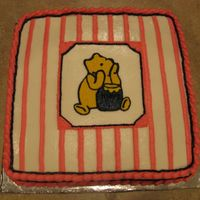 Classic Pooh Baby Shower This cake was made for a baby girl's baby shower. It was a classic Pooh theme.
