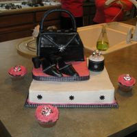 Pink Chic I made this cake for a bridal shower. The bride is very into the glamourus chic type things.