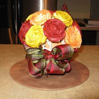 Cupcake Bouquet This was made for a luncheon. 16 mini cupcakes.