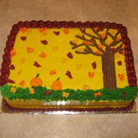 Fall Celebration   I made this cake for a fall celebration at church. It is based on another CC cake. Thanks!!