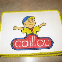 Caillou Birthday Cake This is the cake I made for my son's 4th birthday.