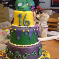 Margi Gras Sweet Sixteen Cake Margi Gras Sweet Sixteen Party