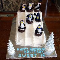 Happy Feet Snow Tubing Cake My girlfriend took her daughter and her friends snowtubing for the party, so I did the cake.