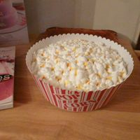 Bowl Of Popcorn Cake  Here is a cake I did that looks like a bowl of popcorn. I thought it turned out pretty good. My grandkids thought it was really a bowl of...
