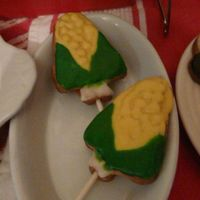 Corn On The Cob Cookies  Here are some corn on the cob cookies I did to go with a grill cake and other cookout themed goodies I made for my husband for Father'...