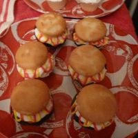 Hamburger Cupcakes  Here are some hamburger cupcakes I did to go with a grill cake and other cookout themed goodies for my husband for Father's Day. I...
