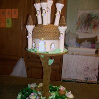 "Fairy Treehouse This what for my daughters 3rd Birthday. It's not perfect but she was happy. My husband built the base and ""tree stand"". The..."