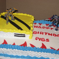Transformers Cake   Transformers are ornaments