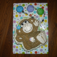 Monkey For Lilli All buttercream, cupcakes or balloons.