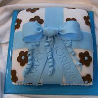 Package Anniversary Cake Anyone who's taken the Wilton classes will recognize this design from course 3. I modified the colors to the couple's wedding...