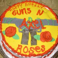 Guns N Roses Cake I made this cake for my 14 Years old son, he likes the band and he didn't want anything special at the beggining, when he saw the...