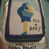 Expecting A Little Boy I made my own cake for my baby shower, fondant cut outs inspired from a invitation...