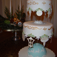 Christmas Cake English frutecake with ornements