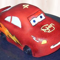 Lightning Mcqueen This was my first attempt at lightning mcqueen from cars. I know its not the best (I think I shaped him more like Sally!!) but all the kids...
