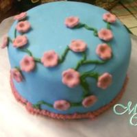 Cherry Blossom Cake I really love how this cake turned out. I saw this idea on the site, and decided to try it for one of the orders I got from a friend, she...