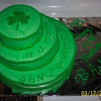 St. Patrick's Day Bday  A very last minute cake for my DH's niece. I was told about it the night before and, for the life of me, I couldn't get the icing...