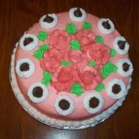Rose & Kiss Cake I done this cake for a lady that liked Roses and Kiss candies.
