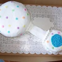 Baby Rattle I used those little candy dots on it.