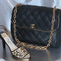 Chanel Purse And Leopard Heel Fondant/gupaste accents. TFL!