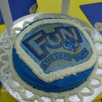 Cub Scouts I made tis cake using my frosting sheets for my son's Blue & Gold Banquet for Cub Scouts.