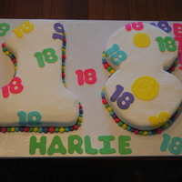 Harlie Bday Yellow butter cake with buttercream icing, covered in fondant