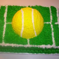Tennis Ball And Grass Court