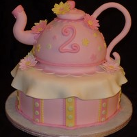 Teapot Cake All fondant. Decorations are fondant/tylose. TFL.